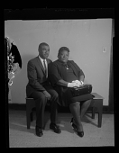 view Studio Portrait of a Couple Sitting, Benjamin Hall Sr. and Cora Hall digital asset number 1