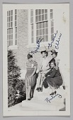 view Photographic print of women, Rosetta, Grace, Ellen, and Ruby, sitting on steps digital asset number 1