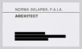view Business card for architect Norma Merrick Sklarek, F.A.I.A. digital asset number 1