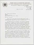 view Letter from Anacostia Museum to Norma Merrick Sklarek digital asset number 1