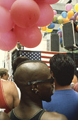 view Photographic slide of participants at a New York Gay Pride Parade digital asset number 1