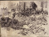 view Scroll of Aragon digital asset: Roll of sketches by Harvey Thomas Dunn, Panel 1, 'Cunel'
