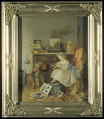 view Chromolithograph, Making the Scrap Book digital asset: Making the Scrap Book
