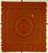 view Lancaster Carpet, Coverlet, Quilt, and Yarn Manufactory; coverlet; Jacquard, double-cloth; 1860-1870; Pennsylvania digital asset number 1