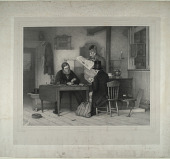 view Untitled (Men playing cards) digital asset: Untitled (Men Playing Cards)
