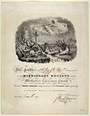 view Missionary Society Certificate by Nathaniel Currier digital asset: Missionary Society Certificate
