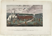 view View of the Great Treaty Held at Prarie Du Chien digital asset: View of the Great Treaty Held at Prarie du Chien