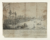 view James Stuart hung by the Vigilance Committee on Market Street Wharf on the 11th of July 1851. digital asset: James Stuart hung by the Vigilance Committee