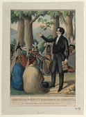 view Joseph the Prophet Addressing the Lamanites by Edward Williams Clay and Henry R. Robinson, 1844 digital asset: Joseph the Prophet Addressing the Lamanites
