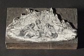 "view Engraved wood block ""Indians Pounding Acorns"" digital asset number 1"