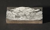 """view Engraved wood block """"Street View at Honolulu"""" digital asset number 1"""