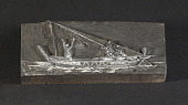 "view Engraved wood block ""Madeira Boat"" digital asset number 1"