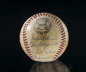 view Baseball, signed by the 1952 Brooklyn Dodgers digital asset number 1