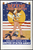 """view """"Defend Your Country, Enlist Now in the United States Army"""" Poster digital asset: 'Defend Your Country, Enlist Now in the United States Army' Poster"""