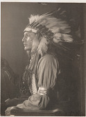 view Has No Horses, Sioux Indian, profile in headdress digital asset number 1