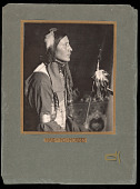view Has No Horses, Sioux Indian, with spear and feathers digital asset number 1