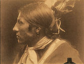 view Amos Two Bulls, Sioux Indian, left profile digital asset number 1