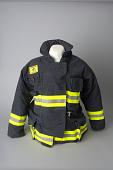 view Pentagon firefighter's gear digital asset: Bunker coat, worn by firefighter Mark Skipper during the September 11, 2001 attack on the Pentagon.