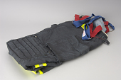 view Pentagon firefighter's gear digital asset: Bunker trousers, worn by firefighter Mark Skipper during the September 11, 2001 attack on the Pentagon.