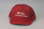 view Fire warden's hat digital asset: Cap, baseball, W.T.C. Fire Safety Team.