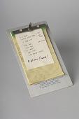 view Julia Child's Handwritten Recipe digital asset: Clipboard with recipe handwritten by Julia Child