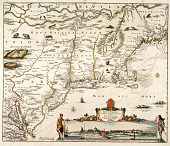 view Novi Belgii, Novaeque Angliae nec non partis Virginiae Tabula... digital asset: Novi Belgii