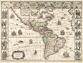 view Map of North and South America digital asset: Americae nova Tabula