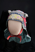 view 1919 Chinese American Baby Bonnet digital asset: Chinese silk baby bonnet