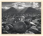 view Mt. Williamson from Manzanar, California digital asset: Photograph by Ansel Adams, Mt. Williamson from Manzanar, California, 1944