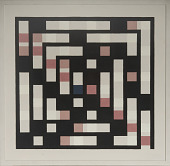view Painting - <I>Numbers in a Spiral</I> digital asset: NUMBERS IN A SPIRAL