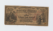 view 20 Dollars, National Gold Bank Note, United States, 1875 digital asset: OBVERSE: California, The Union National Gold Bank of Oakland, 20 Dollar Gold Bank Note, 1875