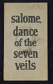 "view ""Salome, Dance of the Seven Veils"" Mutoscope Movie Poster digital asset: Mutoscope Poster"