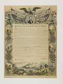 view Commemorative Print of the Emancipation Proclamation, 1864 digital asset number 1
