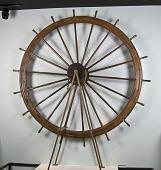 view Pilot Wheel from the Sternwheel Ferry <I>Kiwanis</I>, 1923 digital asset: River packet boat pilot wheel