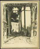 view A Billet, Neuvilly digital asset: Sketch by Ernest Clifford Peixotto, A Billet, Neuvilly