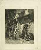 view Egyptian Street Scene digital asset: Print by James David Smillie - Lady of Cairo