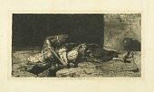 view Arab Mourning digital asset: Print by Mariano  Fortuny - Arab Mourning