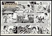 view Camera-ready comic art drawing for <i>Tarzan</i> digital asset: Comic art by John Celardo, Tarzan (Copyright Universal Uclick)
