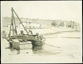 view The Marne at Jaulgonne digital asset: Sketch by Ernest Clifford Peixotto, The Marne at Jaulgonne