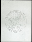 view Eagle One Dollar Coin Photocopy of Sketch, Philadelphia, Pennsylvania, United States, 1965-1990 digital asset number 1