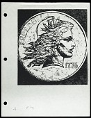 view Flowing Hair Liberty Sketch and Photocopy, Philadelphia, Pennsylvania, United States, 1975-1990 digital asset number 1