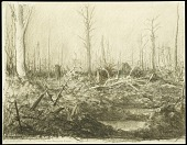 view In the Argonne Forest digital asset: Sketch by Wallace Morgan, In the Argonne Forest