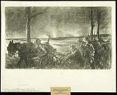 view Machine Gun Outfit Near Esnes digital asset: Sketch by Wallace Morgan, Machine Gun Outfit near Esnes