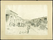 view Roadside Blacksmith Near the Lines, Sanzey digital asset: Sketch by Wallace Morgan, Roadside Blacksmith Near the Lines, Sanzey