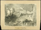 view Sergy After Its Capture by American Troops digital asset: Sketch by Wallace Morgan, Sergy after its Capture by American Troops