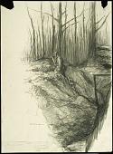 view The G. C. at Dawn, Badonviller digital asset: Sketch by Wallace Morgan, The G.C. at Dawn, Badonviller
