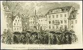 view U.S. Troops Entering Coblenz digital asset: Sketch by Wallace Morgan, U.S. Troops Entering Coblenz