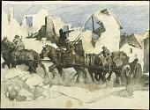 view Village of the Dead digital asset: Sketch by George Matthews Harding, Village of the Dead