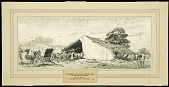 view Blacksmith and Wagon Repair Shed on the Road to Boucq digital asset: Sketch by Walter Jack Duncan, Blacksmith and Wagon Repair Shed on the Road to Boucq