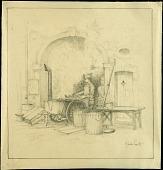 view The Army Cook, Reherrey digital asset: Sketch by J. Andre Smith, The Army Cook, Reherrey